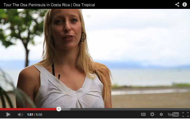 Promotional Video about the Osa Peninsula – and I'm in it :)